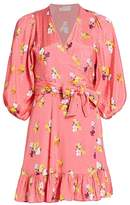 By Ti Mo Bytimo Summer of Love Floral Puff-Sleeve Wrap Dress