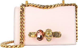 Alexander McQueen Mini Jewelled Leather Satchel
