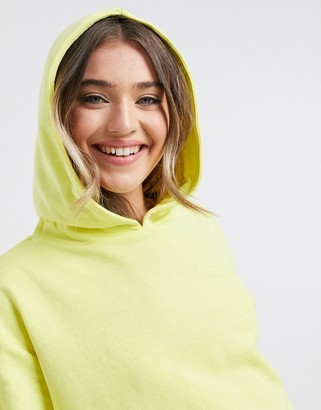 JDY funilla basic hoodie in lime