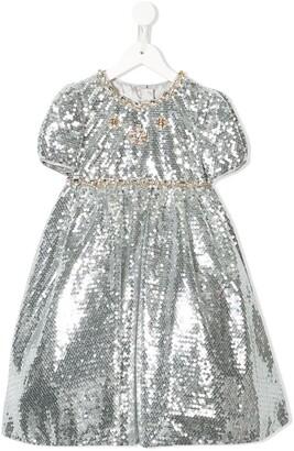 Dolce & Gabbana Kids Sequin Embellished Party Dress