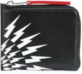 Neil Barrett lightning print wallet