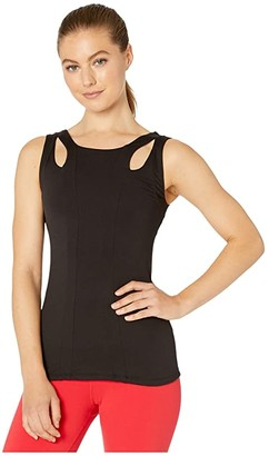 Alo Long Arch Tank (Black) Women's Clothing