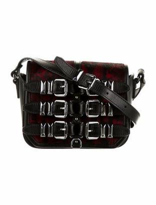 The Kooples Ponyhair & Leather Buckle Crossbody Bag Black