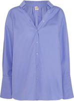 Tod's Oversized Cotton-poplin Shirt - Lilac