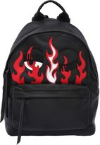 Chiara Ferragni Flirting Flames Faux Leather Backpack