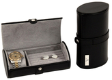 Bey-Berk Monogram Watch and Cufflink Travel Case