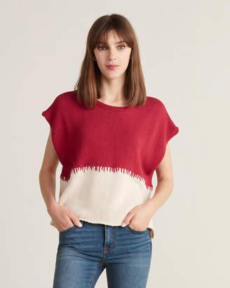 Pierantonio Gaspari Pierantoniogaspari Two-Tone Sleeveless Sweater