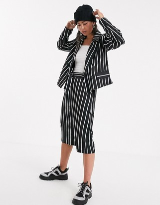 Kaffe stripe suit skirt