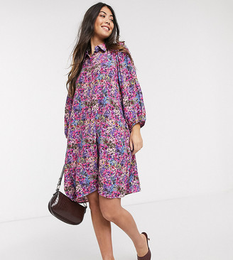 Y.A.S petite shirt dress in floral