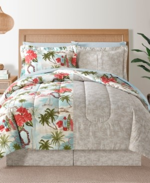 Sunham Fairfield Square Hawaii Multi 8Pc Queen Comforter Set Bedding
