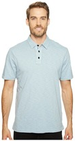 True Grit Heritage Slub Three-Button Short Sleeve Polo Classic Fit Pigment Dyed Men's Clothing