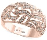 Effy Pavé Rose by Diamond Ring (1/3 ct. t.w.) in 14k Rose Gold