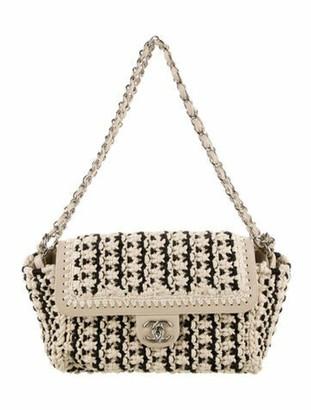 Chanel Crochet Flap Bag Black
