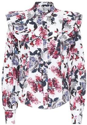 Erdem Caterina floral cotton-poplin top
