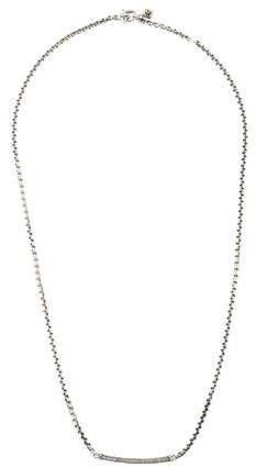 David Yurman Diamond Petite Pavé Metro Chain Necklace