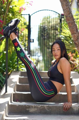 ULTRACOR Tri Color Stripe & Star Leggings