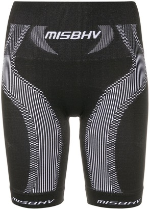 Misbhv Logo Print Fitted Shorts