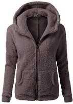 GEEZAN Womens Hoodies Soft Teddy Fleece Hooded Jumper Hoody Jacket Coats