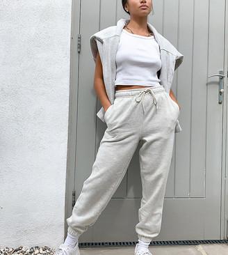 Topshop Petite sweatpants in gray marl