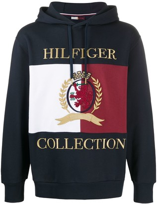 Tommy Hilfiger Embroidered Logo Long-Sleeved Hoodie