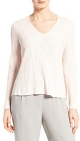 Eileen Fisher Women's Organic Linen & Cotton V-Neck Sweater