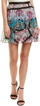 Nicole Miller Artelier Silk A-Line Skirt