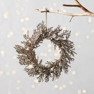 The White Company Mini Sparkle Wreath, Silver, One Size