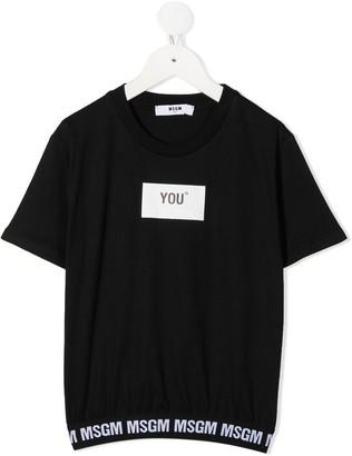 Msgm Kids You print T-shirt