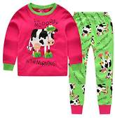"CNBABY ""Dairy Cow"" Toddler and Little Girls Pajamas Long Sleepwear Cotton Pjs (2 Toddler)"