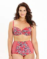 Shapely Figures Balcony Wired Pink Print Bra