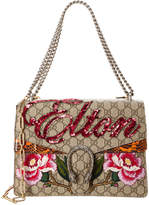 Gucci Dionysus Medium Gg Supreme Canvas & Leather Shoulder Bag