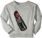 Little Marc Jacobs Lipstick Sweatshirt (Toddler/Kid) - Gris Chine - 3A
