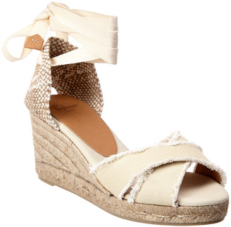 Castaner CastaEr Bluma Ankle Wrap Canvas Wedge Espadrille