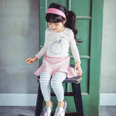 JJ Park Pom Pom Pear Blouse And Skirt Leggings Set
