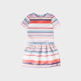 Paul Smith Girls' 7+ Years Mixed-Striped Satin 'Maggie' Dress
