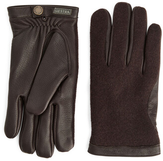 Arket Hestra Leather Wool Tricot Gloves