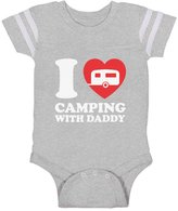 TeeStars I Love Camping With Daddy Newbron Father's Day Gift Baby Jersey Bodysuit
