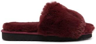 Apparis Jasmine faux-fur flatform slippers