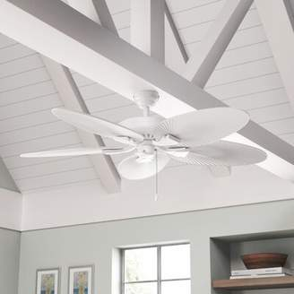 """Beachcrest Home 52"""" Millie 5-Blade Ceiling Fan Color: White"""