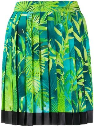 Versace Jungle pleated skirt