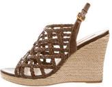 Prada Cage Wedge Sandals