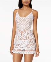 Linea Donatella Festival Bridal Sheer Crochet-Lace Chemise & Matching G-String