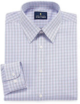 STAFFORD Stafford Long Sleeve Woven Grid Dress Shirt - Fitted