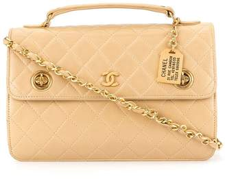 Chanel Pre-Owned CC Mark Plate Double Turn Lock 2way bag