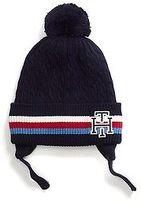 Tommy Hilfiger Little Boy's Stripe Pom-Pom Tie Hat