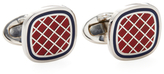 Jan Leslie Criss Cross Soft Square Cufflinks