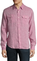Faherty Charleston Linen Buttoned Sportshirt