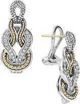 Lagos Sterling Silver and 18K Gold Newport Diamond Earrings