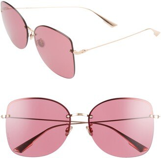 Christian Dior Stell 62mm Special Fit Oversize Rimless Sunglasses