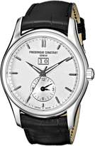 Frederique Constant Men's FC-325S6B6 Index Black Leather Strap Watch